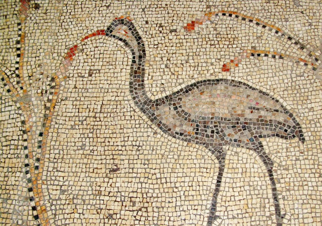 25619926-ancient-mosaic-inside-the-church-of-the-multiplication-of-the